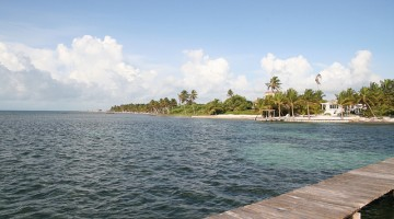 Ambergris Caye from Flores Peten